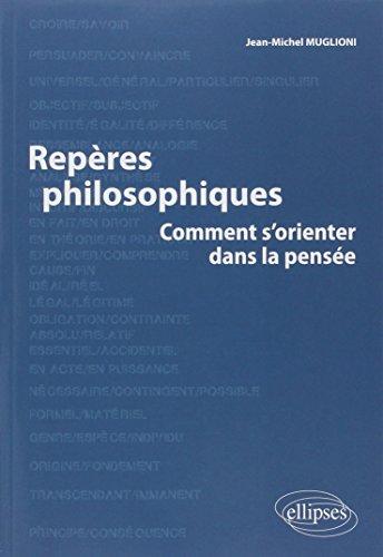 Repères philosophiques - comment s'orienter dans la pensée