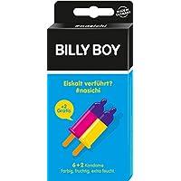 BILLY BOY nasichi - farbig, fruchtig, extra feucht, 6er + 2 Gratis-Kondome (Blau - Eis) preisvergleich bei billige-tabletten.eu