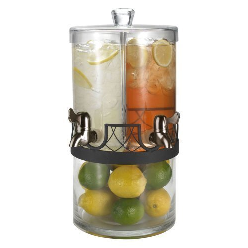Artland Twice As Nice Glass Dual Beverage Dispenser, 2 Gallon by Artland -