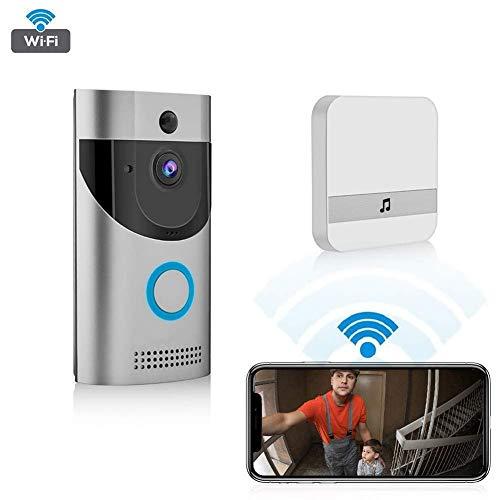 XHZNDZ Video Türklingel Smart Wireless Home WiFi Überwachungskamera Indoor Chime 2-Way Talk Nachtsicht PIR Bewegungserkennung APP Control für iOS Android