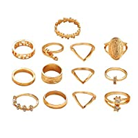 LpfbGezfnwb 1Pc Female Ring Set Water Drop Geometric Female Hand Jewelry Joint Ring 1