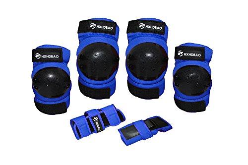Hxhdbao Kinder Skating Knie Pads Elbow Pads Handgelenk Set / Blau
