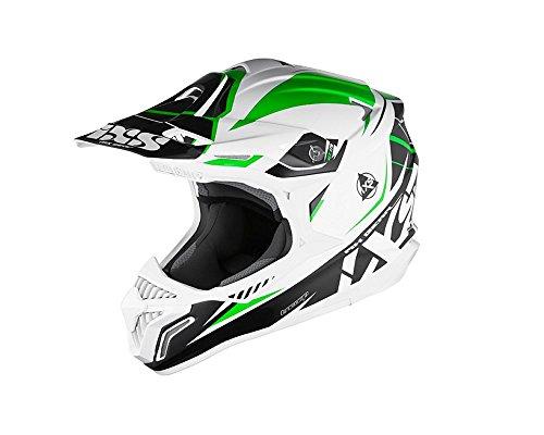 Motocrosshelm IXS HX 179 FLASH weiss-schwarz-grün Gr.XS