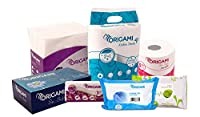 Origami Super Saver Combo with Toilet Roll, Kitchen Roll, Face Tissue, Wet Wipes, Pocket Tissues, Paper Napkins