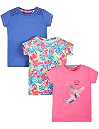 Mothercare Glam Tropic-3 Pack, T-Shirt Fille