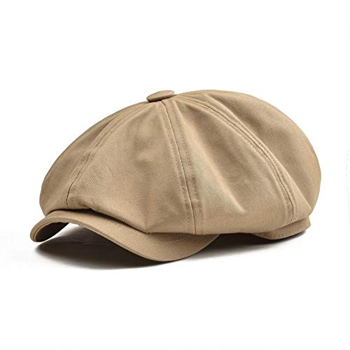 MDKZ Kappe Big Large Zeitungsjunge Mütze Männer Twill Baumwolle Acht Panel Hut Baker Boy Caps Khaki Hüte Männliche Barett -