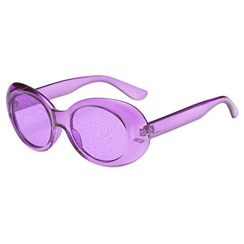 Dragon868 Frauen Mann übergroße ovale Pailletten Sonnenbrillen Vintage Sonnenbrillen Retro Brillen (G)
