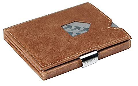 Exentri Wallet – Holds 12 Credit Cards Leather Wallet, Sand EX007 (Hellbraun) (brown) - EX 007 Sand