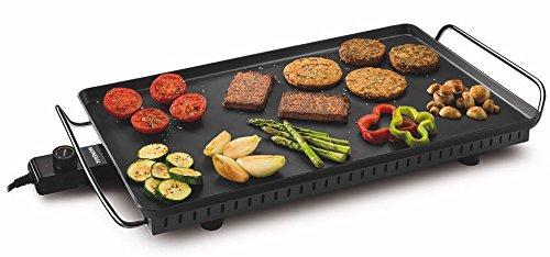 Mondial Table4Cook Party Plancha électrique 36x 60cm, 4mm, avec 2m de câble et thermostat professionnel, noir