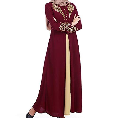 GJKK Muslimische Kleider Damen Muslimische Roben MyBatua Abaya mit Hijab Jilbab Islamische Kleidung Muslimische Maxi Kleid Muslim Burka Kleid Muslimisch Dubai Kleid (Halloween-kostüme Niedliche Arbeit Für)