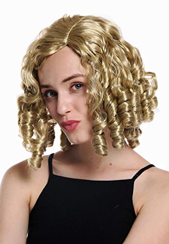WIG ME UP - 91308-ZA89 Perücke Damenperücke Karneval Halloween Barock Rokoko Biedermeier Gothic Lolita Cosplay Korkenzieher-Locken Blond (Blonde Lolita Perücke Für Erwachsene)