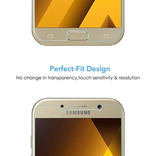 3 Stück Samsung Galaxy A5 Panzerglas, Voroar 9H Härte Schutzfolie Displayschutz / Ultra-klar Displayschutzfolie / Glas Folie gegen Öl und Fingerabdruck Panzerglasfolie - 6