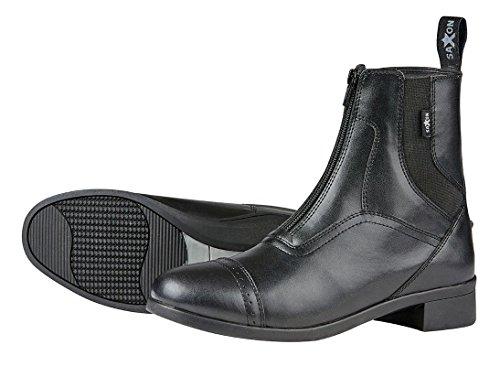 Sächsische syntovia Erwachsene Reiten zip Paddock Stiefel-Schwarz (Paddock Stiefel Reiten,)