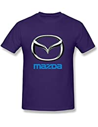 Golden dosa Men's Mazda Motor Corporation Car Brand Logo Tees Black