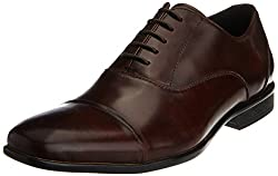 Kenneth Cole Mens Shine On Brown Leather Formal Shoes - 10.5 UK/India (44.5 EU)