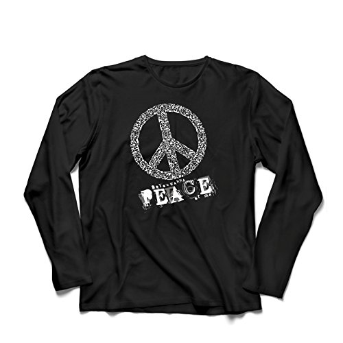ren t Shirts Willst Du Stück von Mir - Frieden Slogan, 60er 70er Hippie - Hippie Festivals, Hipster Swag (Small Schwarz Mehrfarben) (Mama Und Mir Kostüm)