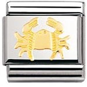 Nomination Composable Classic STERNZEICHEN Edelstahl und 18K-Gold (Krebs) 030104