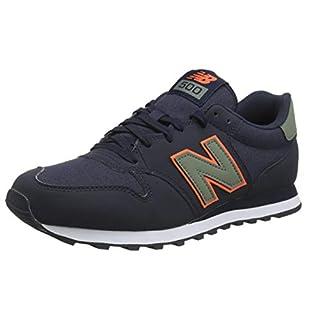 New Balance Herren 500 Sneaker, Blau (Outerspace/Mineral Green/Dark Mango Com), 45 EU