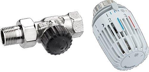 Heimeier HEIMSETD12 Thermosat Set, Ventil 2202 Durchgangsform und Kopf