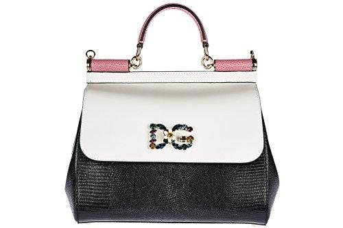 Dolce & Gabbana Women Borsa Sicily a blocchi di colore Multicolour Totes bags onesize