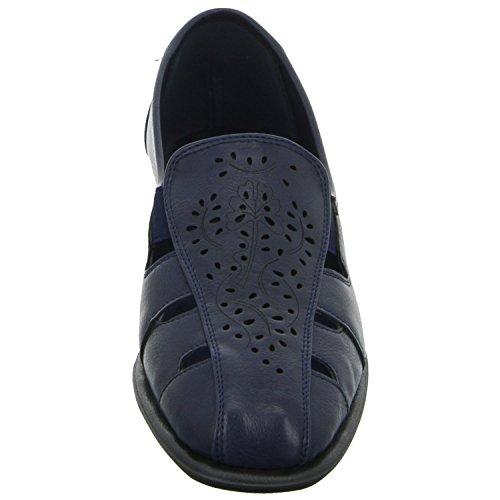 Donna Andrea H67318P-NA Damen Slipper Halbschuh gelocht oder geflochten diverse Böden Blau (Blau)