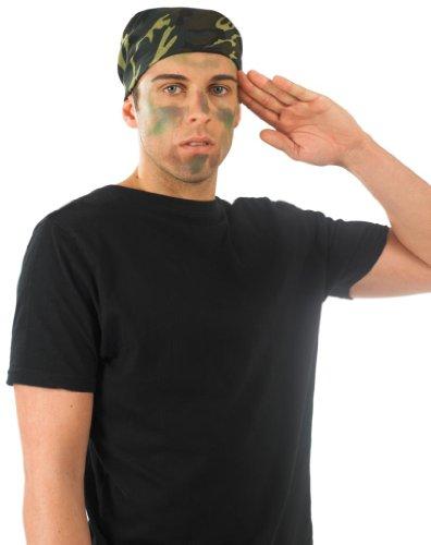 Geheimer Krieg Kostüm - Armee Camouflage Bandana für Fancy