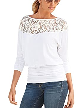 ISASSY - Camisas - relaxed - Cuello redondo - Manga Larga - para mujer