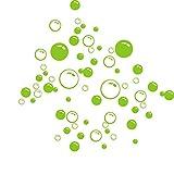 Kakiyi Bubbles Kreis lösbare Tapeten Badezimmer-Fenster-Wand-Aufkleber-Ausgang DIY PVC-Abziehbilder