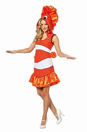 Damen Kostüm tropischer Fisch in orange Karneval Fasching Gr.40 (Tropischer Fisch Kostüm)