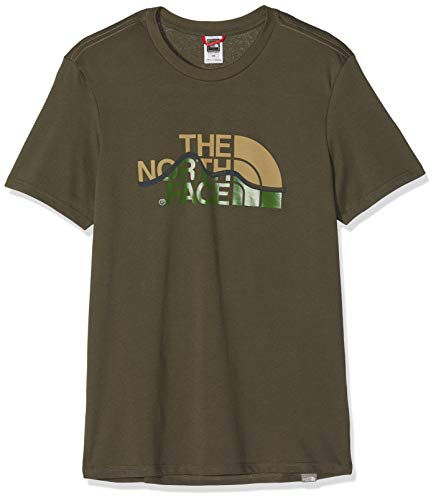 The north face mountain line tee, maglietta uomo, verde (new taupe green), m