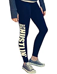 Sannysis Mujer Pantalones deportivos de fitness letras impresas (S)