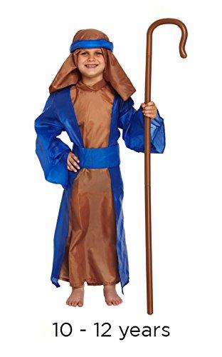 KOSTÜM KINDER SHEPHERD BLAU GROß 10-12 JAHRE (Blue Dragon Baby Kostüm)