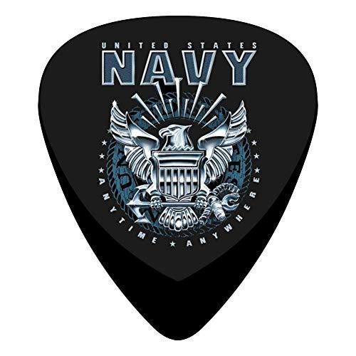 Navy Eagle Logo Celluloid Plectrums 12-Pack, Custom Guitar Picks -