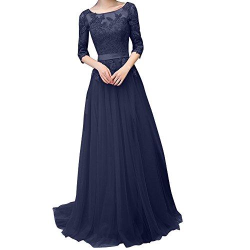 Charmant Damen Dunkel Rosa Spitze langes Abendkleider Promkleider ...
