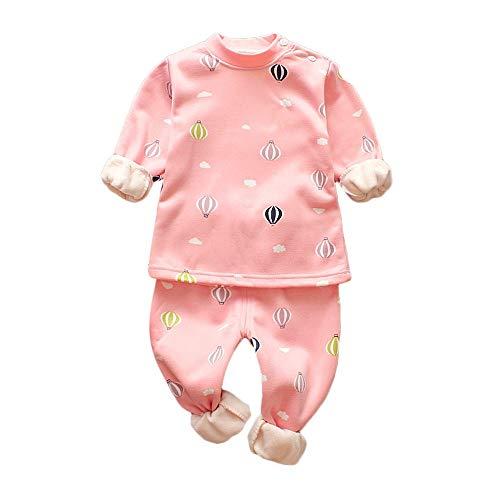 0c002a17b6b4 BaZhaHei Ensembles de Pyjamas Vêtements de Nuit Bébé Fille Garçons Hiver  Imprimer épais Chaud Tops Pantalons