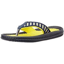 Bubblegummers Girl's Joy Yellow and Black Indian Flip Flops - 2 kids UK/India (35 EU) (4718024)