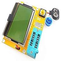 BianchiPatricia Portable HW-308 ESR Meter Transistor Tester Digital 12864 LCD Screen Tester