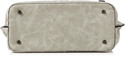 Betty Barclay Damen Henkeltaschen, 42x25x14 cm Grau (Grey)