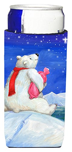 carolines-treasures-cdco0488muk-polar-bear-with-hot-water-bottle-ultra-beverage-insulators-for-slim-
