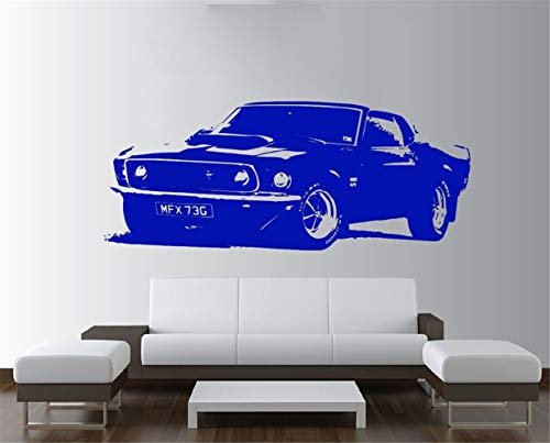 etiqueta de la pared pegatinas decorativas pared Ford Mustang 1969 Vintage Large Car Sticker Vinilos Dormitorio