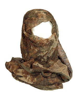 Shemagh keffieh cheche US - Maille filet extreme camouflage - 190cm x 90cm - Airsoft - Paintball - Outdoor
