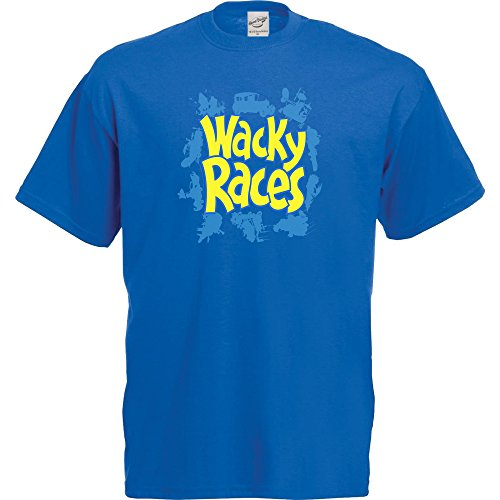 Wacky Races Logo T-Shirt for Men, Blue