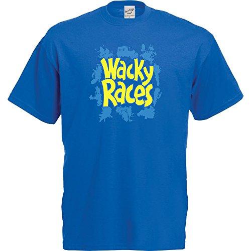 Wacky Races Logo T-Shirt for Men, Blue, S to XL