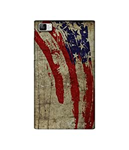 Casotec Vintage American Flag Design 3D Printed Hard Back Case Cover for Xiaomi Mi3