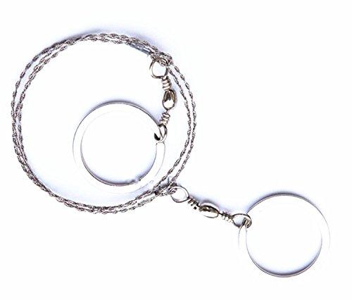 buyhere Haustierhalsband mit Commando Drahtsäge Silber silber -