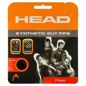 Head Synthetic Gut PPS Tennis String Set-17G Black by HEAD