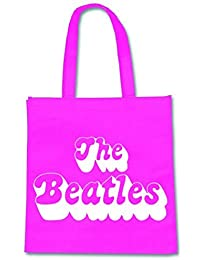 The Beatles 70's Logo offiziell Nue Rosa Eco Shopper Bag