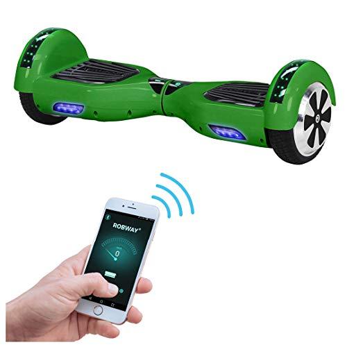 Robway W1 Hoverboard - Das Original - Samsung Marken Akku - Self Balance - 22 Farben - Bluetooth - 2 x 350 Watt Motoren - App - Led (Grün)