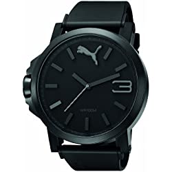 Puma Motorsport Ultrasize Unisex Quartz Watch with Black Dial Analogue Display and Black Plastic or PU Strap PU102941001