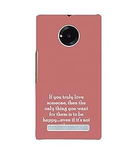 EPICCASE true love Mobile Back Case Cover For YU Yuphoria (Designer Case)